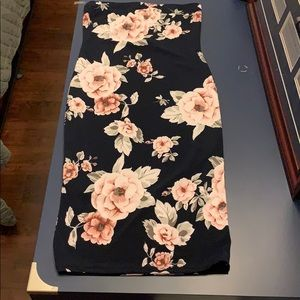 Floral body on dress